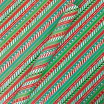 Tom Smith Christmas Stripe Giftwrap Roll