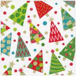 Party Trees Christmas 3ply Paper Napkins 33cm