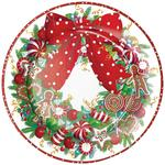 Candy Wreath Paper Plates