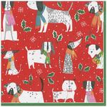 Christmas Canines 3ply Paper Napkins, 33cm