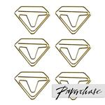 Paperchase Gold Diamond Shaped Paperclips