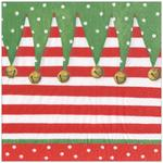 Elf Stripe 3ply Paper Napkins 33cm