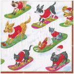 Sleigh Dogs 3ply Christmas Paper Napkins, 33cm