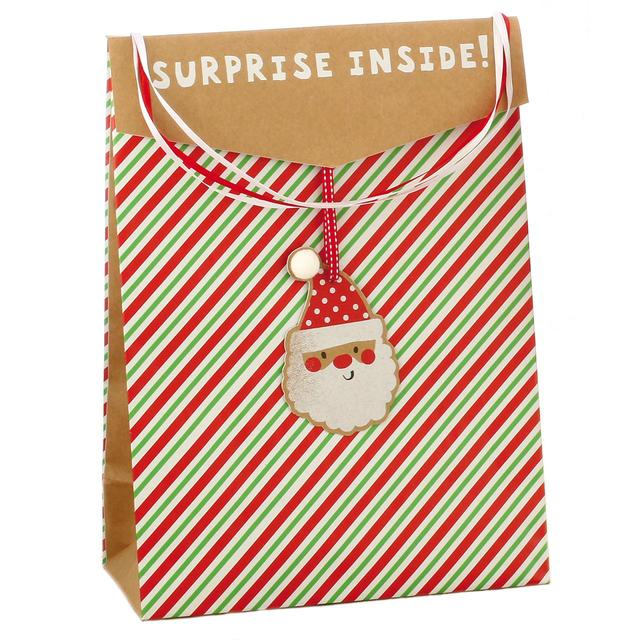 Santa Kraft Christmas Large Gift Bag