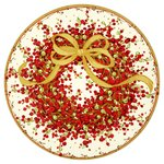Christmas Wreath Paper Plates