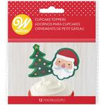 Wilton Santa & Christmas Tree Cupcake Toppers