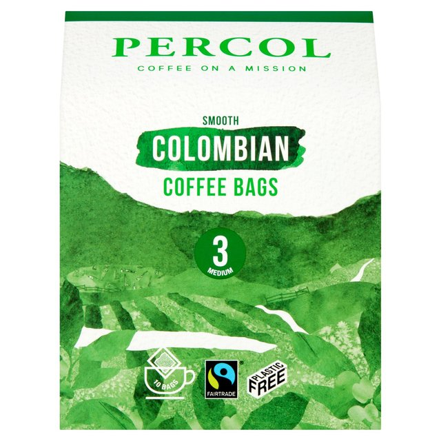 Percol Fairtrade Colombia Roast Ground Coffee Bags Ocado