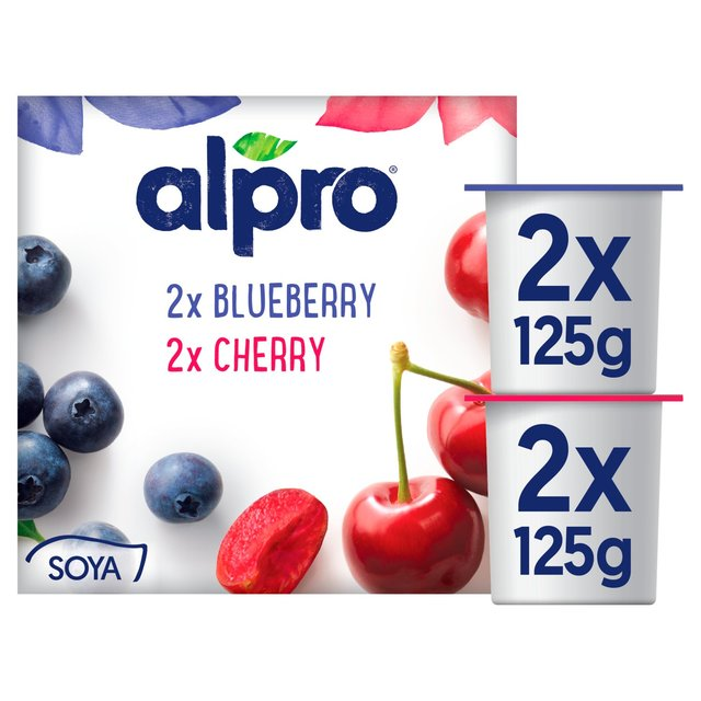 Alpro Cherry & Blueberry Yoghurt Alternative ...