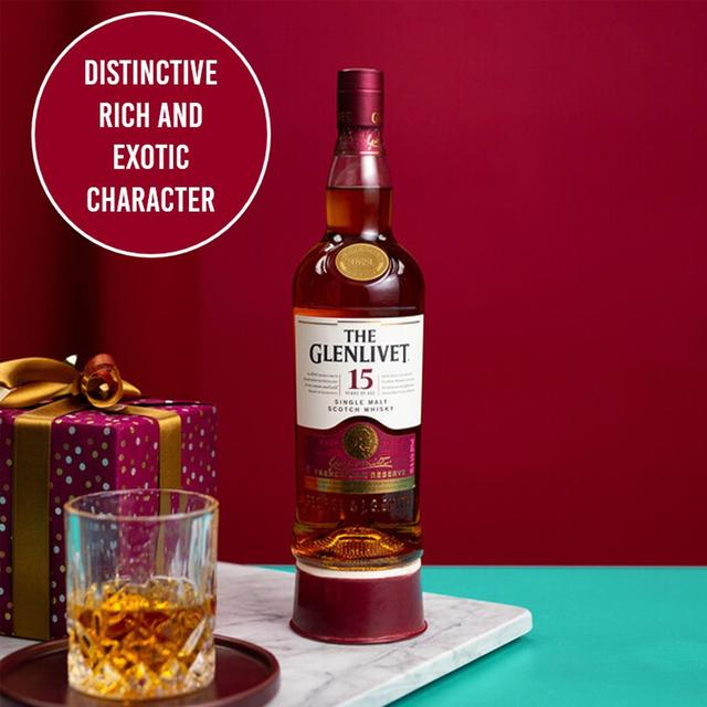 the glenlivet 15 year old malt scotch whisky 70cl from ocado