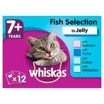 Whiskas 7+ Cat Pouches Fish Selection in Jelly