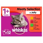 Whiskas 1+ Cat Pouches Meaty Selection in Jelly