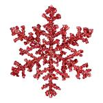 Red Glitter Snowflake Christmas Tree Decoration