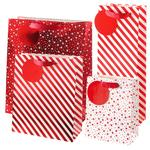 Waitrose Metallic Gift Bag Set, Red