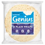 Genius Gluten Free Plain White Wraps