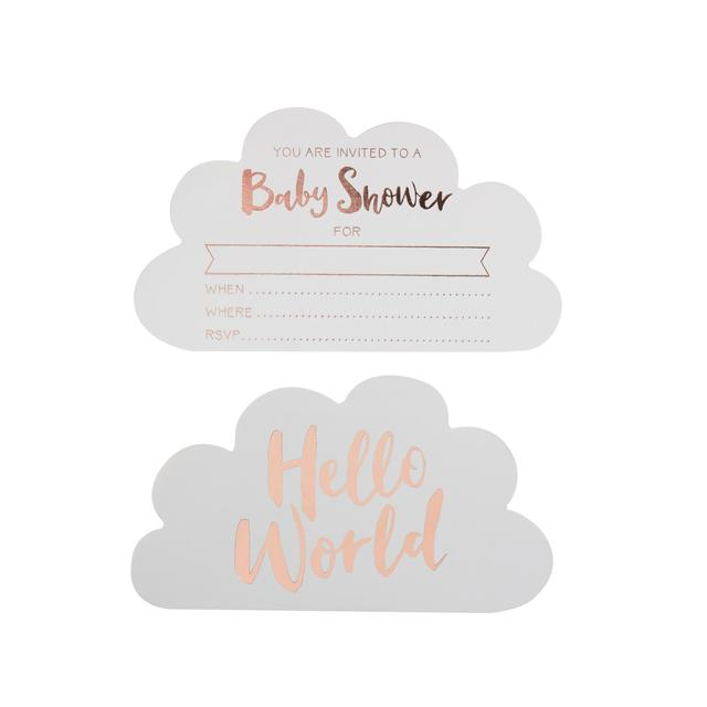 Ginger Ray Baby Shower Invitations, Rose Gold