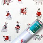 Polar Bears Christmas Giftwrap Sheet