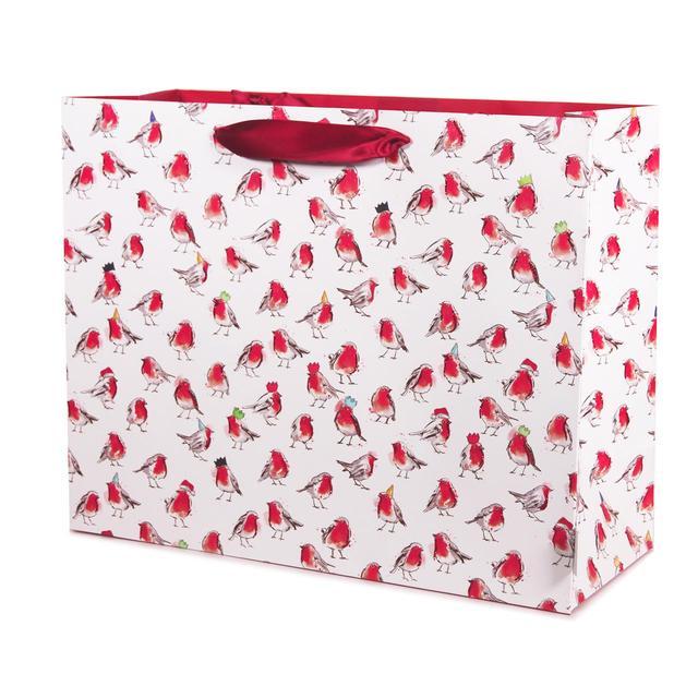 robins christmas gift bag extra large