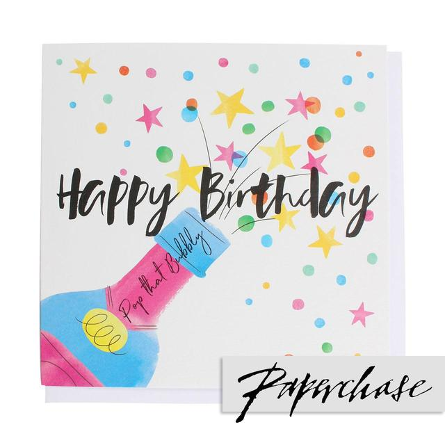 Paperchase Pop That Bubbly Birthday Card From Ocado