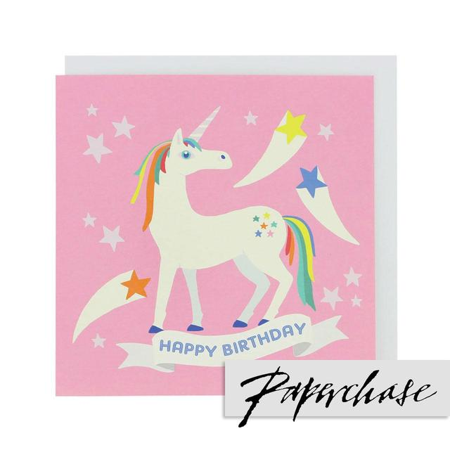 Paperchase Unicorn Happy Birthday Card From Ocado