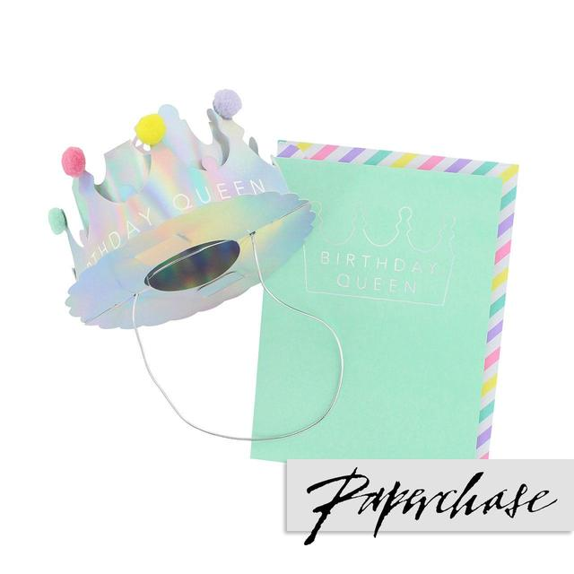 Paperchase Holographic Birthday Crown Card From Ocado