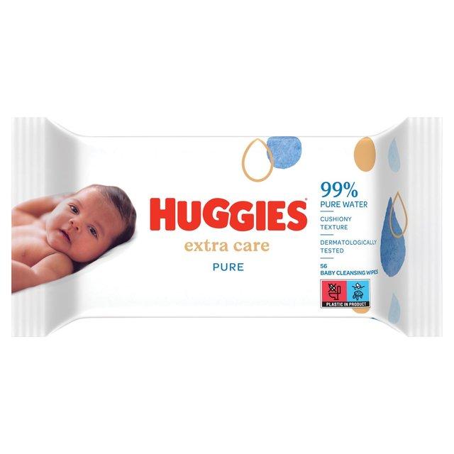 Huggies Pure Baby Wipes 56 per Pack Pack of 4