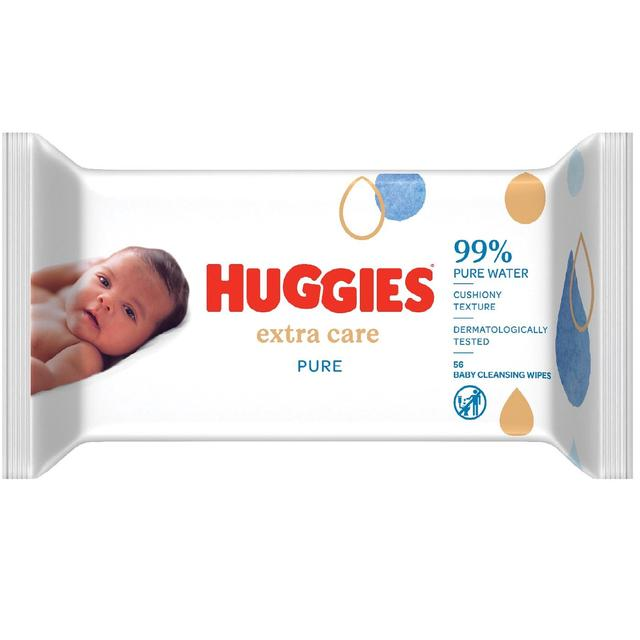 Huggies Pure Extra Care Baby Wipes 56 Per Pack From Ocado