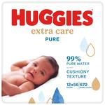 Huggies Pure Extra Care Baby Wipes 12 x 56 per pack