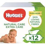 Huggies Natural Care Extra Care Baby Wipes 12 x 56 per pack