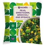 Ocado Frozen 4 Steam Bags Mixed Greens & Sweetcorn