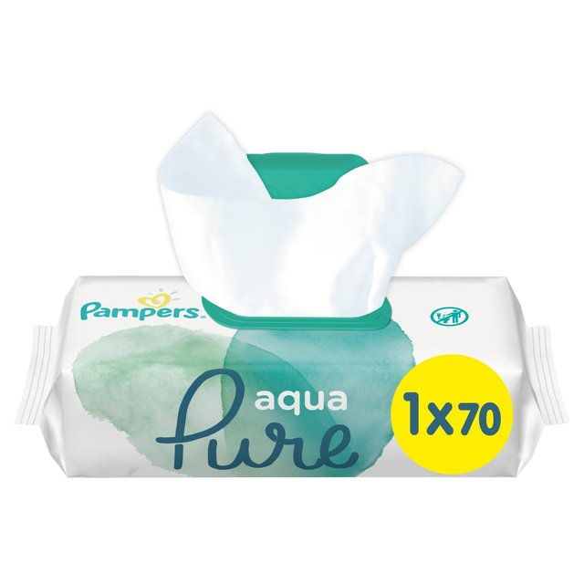 Pampers Pure Protection Wipes 70 Per Pack From Ocado