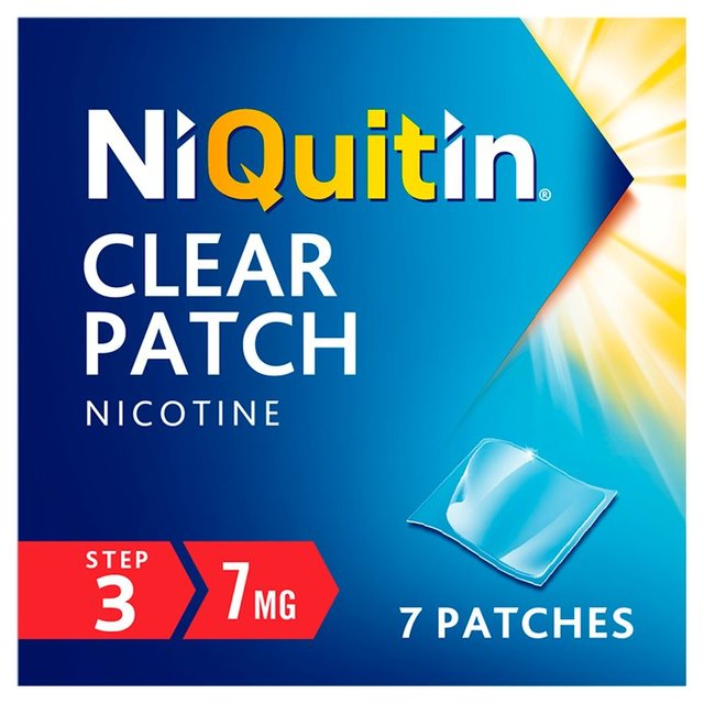 NiQuitin CQ Clear Patch Step 3, 7mg