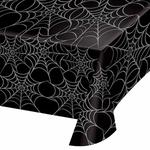 Silver Webs Plastic Tablecover
