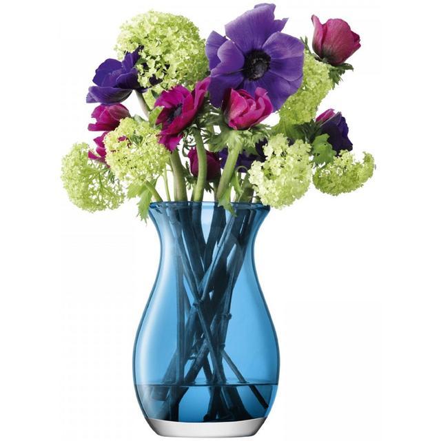 Lsa International Flower Posy Vase Turquoise 20cm From Ocado