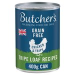 Butcher's Chicken & Tripe Loaf Recipe Dog Food Tin