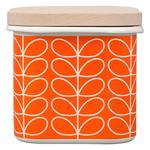Orla Kiely Enamel Storage Jar Linear Stem Persimmon