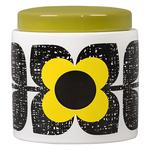 Orla Kiely Storage Jar Scribble Square Flower Sunshine
