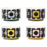 Orla Kiely Ramekins Set of 4 Scribble Square Flower