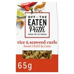 Off The Eaten Path Rice & Seaweed Crispy Curls Sweet Chilli & Lime Snacks