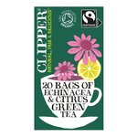 Clipper Green Tea Bags with Citrus & Echinacea