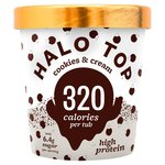 Halo Top Cookies & Cream Low Calorie Ice Cream