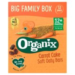 Organix Carrot Cake Organic Soft Oat Snack Bars Family Box