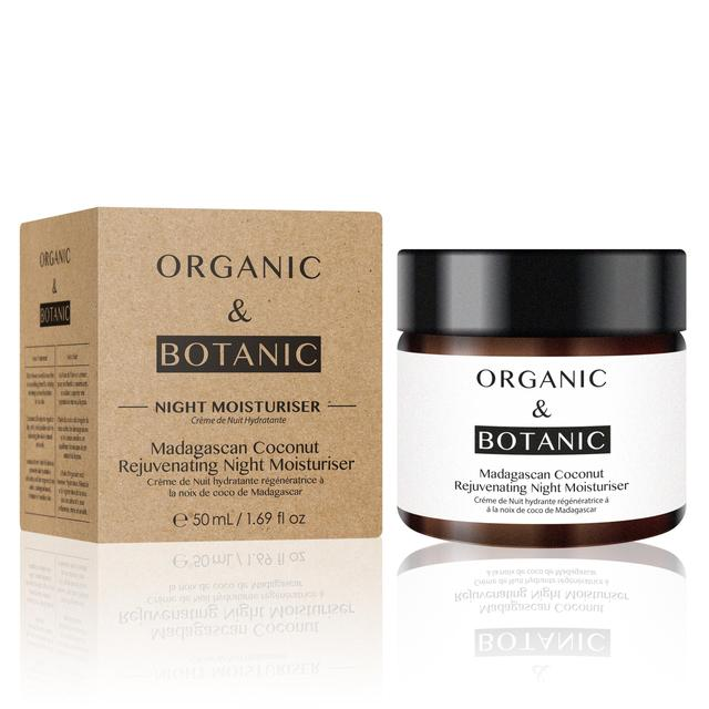 Organic & Botanic Rejuvenating Night Moisturiser, Madagascan Coconut