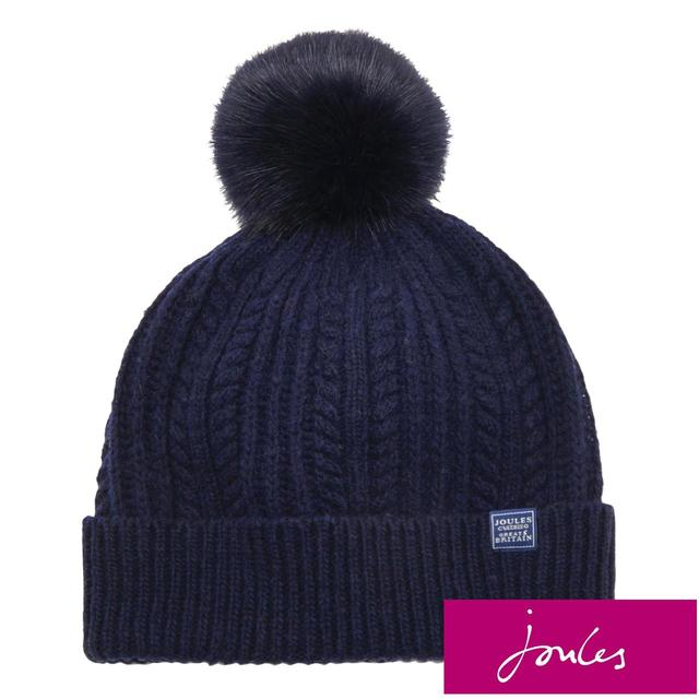 Joules Bobble Hat, French Navy