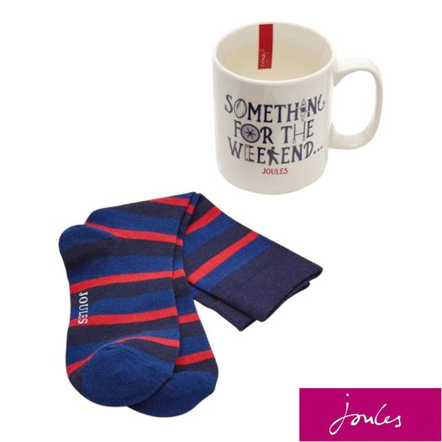 Joules For The Weekend Sock & Mug Set