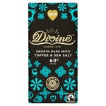 Divine Dark Chocolate with Toffee & Sea Salt Bar