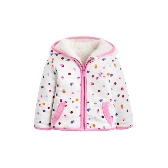 5a0e72dcc Joules Cream Acorn Spot Reversible Fleece Jacket