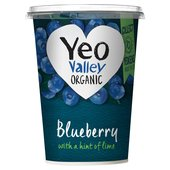 Yeo Valley Organic Blueberry Yogurt with a Hint of Lime