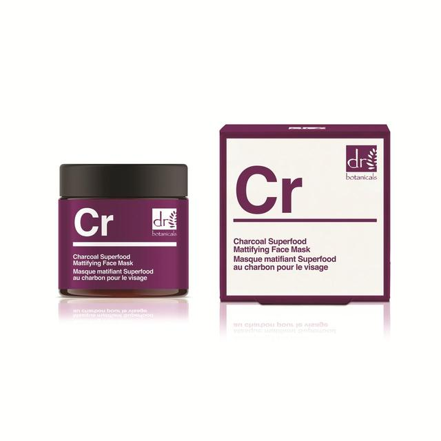 Dr Botanicals Face Mask Mattifying Charcoal Superfood