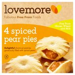 Lovemore 4 Gluten Free Spiced Pear Pies