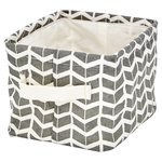 Grey/Natural Chevron Laundry Bag Small